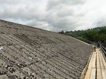 Asbestos garage roof repair